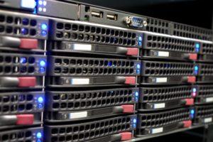 Aktive Server im Rechenzentrum von Compositiv