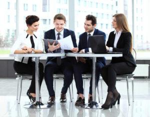 IT-Consultants bei einer Besprechung