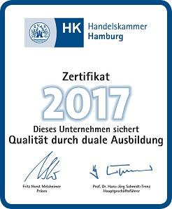 Ausbildungszertifikat 2017